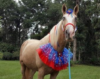 Super Star Costume for Horse, Pony or Miniature Horse -- Patriotic Super Hero Equine Costume