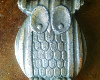 Brass Owl Belt Buckle Vintage Retro