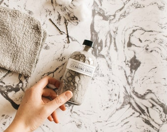 CLEANSING GRAINS // 'Detox' Skin-Clearing Activated Charcoal Facial Cleanser - - - Gluten-Free ∙ Vegan ∙ Organic ∙ 100% Natural