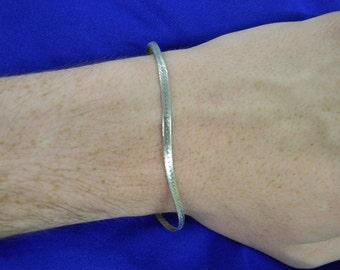 """Sterling Silver 925 Elegant Thin Harringbone Bracelet 7.5"""" Long ET6145"""