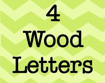 Larson Designs 4 Wood Letters with Ribbons