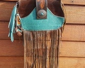 Leather Purse, Leather Bag, Cross Body Bag, Turquoise Leather Purse