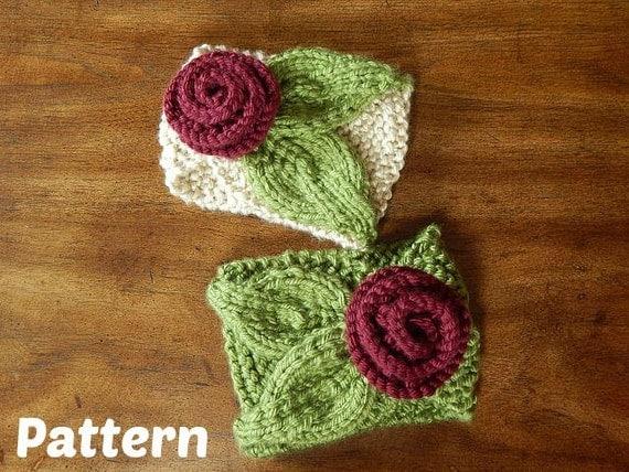 Winter Headband Knitting Pattern : Knit Headband Pattern : Floret Earwarmer Winter