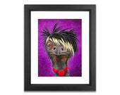 Emu Illustration - Signed Print - Emo Rocker Punk