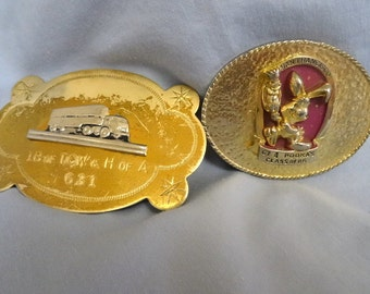 2 Belt Buckles Pooka and Truck San Francisco