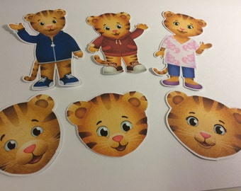Daniel Tiger and Parents : Die Cuts and Faces qty 6