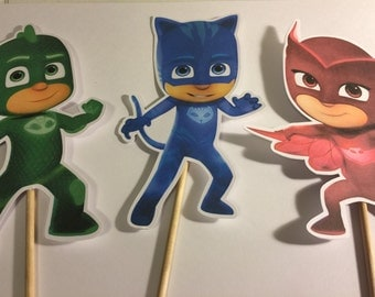 PJ MASKS  Characters On Dowel Rods qty: 3