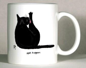 Cat Mug, Black Cat Mug, Cat Humor Gift, Cat Friend Mug, Customized Cat Mug, Co-worker Gift, Cat Lover Gift