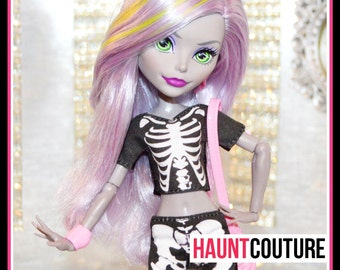 Monster Doll Haunt Couture Ultimate Skeleton high fashion shirt