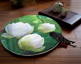 Plush Velvet Round Seat Cushion Round Seat Pad Lotus Seat Cushion Soft Chair Cushion Quilting Cotton Pad
