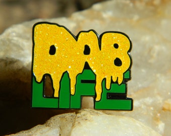 DAB Life hat pin with glitter