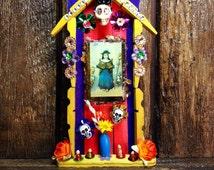Holy Child of Atocha Miniature Nicho / Day-of-the-Dead Altar / Folk Art Catholic Shrine / Dia de los Muertos Decor / Santo Niño de Atocha