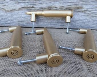 12 Gauge Shotgun Rifle Knob - Bullet Handle Drawer Pull - Country Man Cave