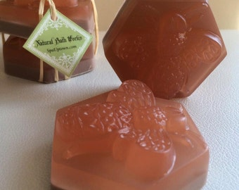 20 BEE THERAPY- soap favors individually wrapped: party, shower, bridal,birthday etc. 3 oz each, include message