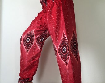 SM0102 Smock Thai Lady Pants Gypsy Pants Rayon Pants,Aladdin Pants Maxi Pants Boho Pants