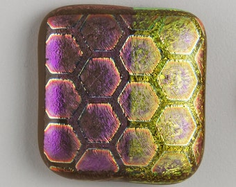 2362 dichroic cabochon - free shipping
