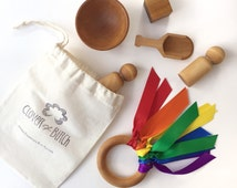 Modern Toy - Wooden Toy - Montessori Toys - Natural Toys  - Organic Toy - Airplane Travel Toys - Travel Toy - Travel Busy Bag - Gift Set