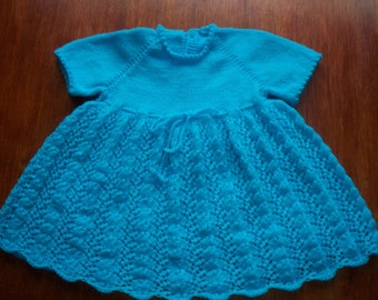 Vintage Hand Knitted Baby Dress