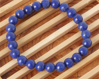 Lapis Lazuli 7 1/2mm Stretch Bracelet