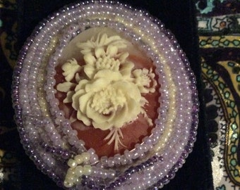 Flower brooch 2-1/2 in