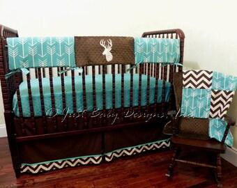 Custom Baby Crib Bedding Set Paxton Boy Baby Bedding Deer