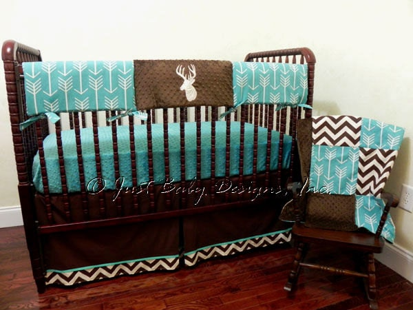 Deer Crib Bedding Set Boy Baby Bedding Crib Rail Cover