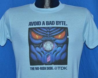 80s TDK Floppy Disk Monster t-shirt Small