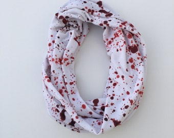 Blood Splatter infinity scarf