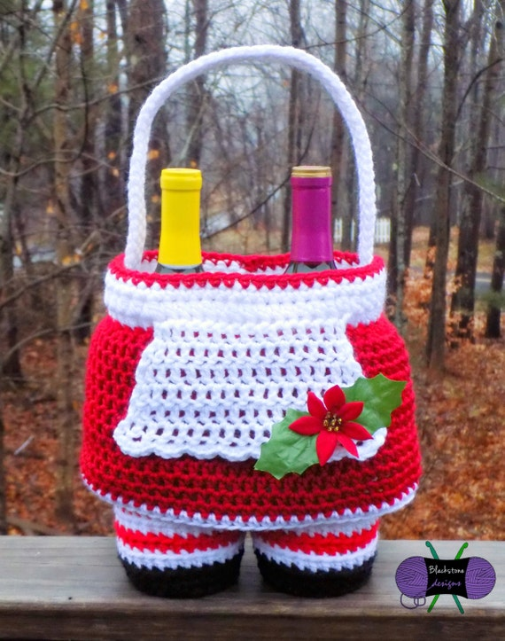 Mrs. Claus Gift Basket PDF crochet pattern ONLY Christmas