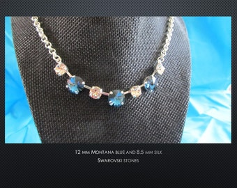 Montana Blue and Silk Crystal Necklace