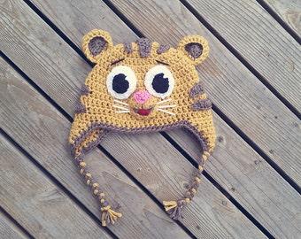 Daniel Tiger inspired crochet hat