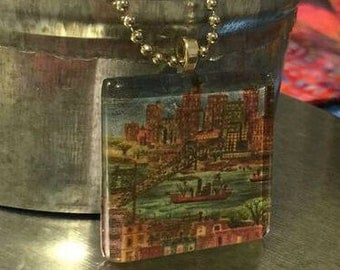 City View Necklace: Glass Tile