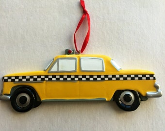 Taxi Cab Personalized Christmas Ornament - Cab Ornament - New York Ornament - New York Taxi Ornament