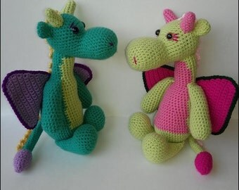 Crochet Pattern - Mr. and Mrs. Dragon