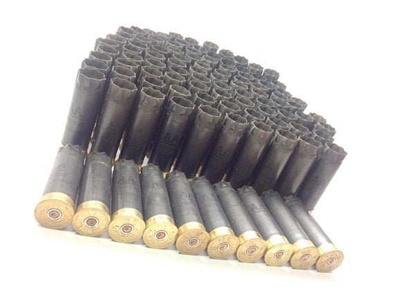 Empty Winchester AA 12 Gauge Shotgun Shells 100 Lot Gray with Gold Base from JoyJoeTreasures on ...