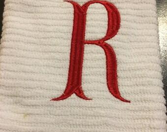 Monogramed kitchen towel