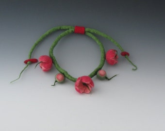 Felted Necklace, Felted Jewelry, Felted