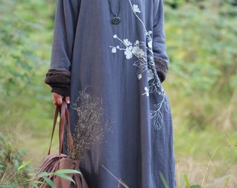 Woman winter chinese style long dress