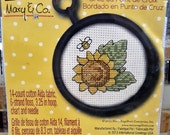 SUNFLOWER Complete Counted Cross Stitch Kit - by Studio 18