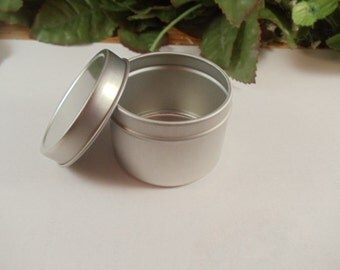 4 oz Deep Metal Tin Container with Lid