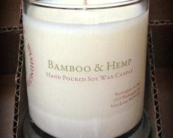 BAMBOO & HEMP Soy Wax Candle 12 oz. Status Jar