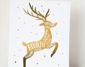 Rennes du Père Noël - 8x10 art print