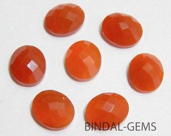 Wholesale Lot 15 Pieces Amazing Red Onyx Oval Shape Checker Cut Gemstone For Jewelry