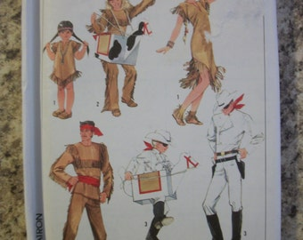 Simplicity 7642 Adults (Medium) Lone Ranger, Tonto, Silver and Scout costumes