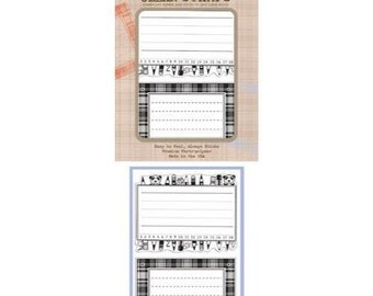 Basic Grey Hero Arts Oxford Clear Stamp - Fun Labels - Perfect for Journaling!  Retired!