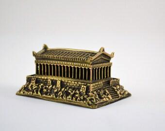 Acropolis/Parthenon/4.3x3x2.4 inches/Polyester/Bronze plated (15127)