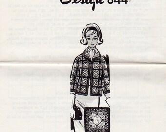 Vintage Mail Order Knitted Shrug Knitting Pattern, Laura Wheeler 745, Vintage 1964