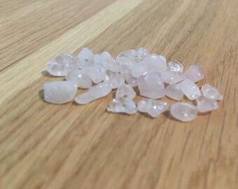 Rose Quartz Chip Beads x30