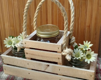 Moonshine Caddy for 2 - Beverage or Wine Caddy - Recycled Pallet Wood