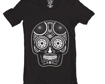 Day of the Dead Bike Tee, Men's T-Shirt, Skull, Bicycle Gear, Available S-XXL